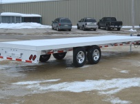 Bumper Pull Heavy Equipment Flatbed Trailers - BPF 39B