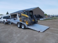 Bumper Pull Heavy Equipment Skid Loader Trailer - SKL 34