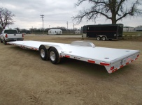 Bumper Pull Heavy Equipment Flatbed Trailers - BPF 40A