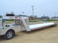 Gooseneck Low Profile Heavy Equipment Flatbed Trailers - GNLPF 43B