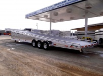 Gooseneck Wedge Deck Open Automotive Aluminum Trailers - GNOC 19B