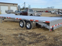 Bumper Pull Heavy Equipment Flatbed Trailers - BPF 38B