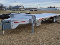 Bumper Pull Heavy Equipment Flatbed Trailers - BPF 38A