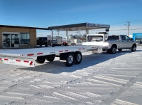 Gooseneck Heavy Equipment Flatbed Trailers - GNF 86E