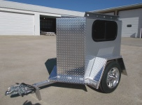 Enclosed Motorcycle Trailer Pull Behind Tote - CYCLE 47A