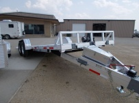 Bumper Pull Open Automotive Aluminum Trailers - BPOC 24