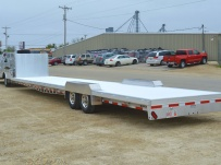 Gooseneck Low Profile Heavy Equipment Flatbed Trailers - GNLPF 43A