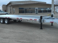 Bumper Pull Heavy Equipment Flatbed Trailers - BPF 27B