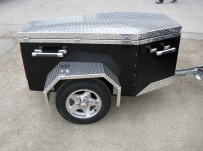 Enclosed Motorcycle Trailer Pull Behind Tote - CYCLE 32A