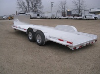 Bumper Pull Open Automotive Aluminum Trailers - BPOC 18A