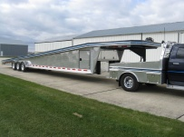 Gooseneck Wedge Deck Open Automotive Aluminum Trailers -  GNOC 16A
