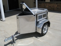 Enclosed Motorcycle Trailer Pull Behind Tote - CYCLE 30B