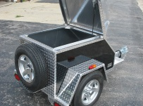 Enclosed Motorcycle Trailer Pull Behind Tote - CYCLE 6B