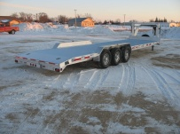 Gooseneck Low Profile Heavy Equipment Flatbed Trailers - GNLPF 21C