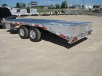 Bumper Pull Heavy Equipment Flatbed Trailers - BPF 21