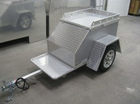 Enclosed Motorcycle Trailer Pull Behind Tote - CYCLE 27B