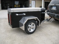 Enclosed Motorcycle Trailer Pull Behind Tote - CYCLE 32B