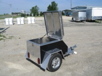 Enclosed Motorcycle Trailer Pull Behind Tote - CYCLE 8C