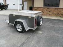 Enclosed Motorcycle Trailer Pull Behind Tote - CYCLE 23A