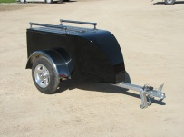 Enclosed Motorcycle Trailer Pull Behind Tote - CYCLE 34A