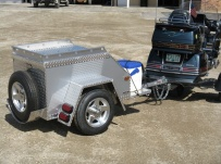 Enclosed Motorcycle Trailer Pull Behind Tote - CYCLE 15A