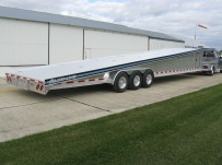 Gooseneck Wedge Deck Open Automotive Aluminum Trailers - GNOC 16B