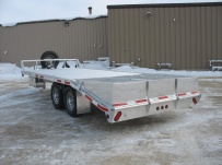 Bumper Pull Heavy Equipment Flatbed Trailers - BPF 16