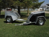 Enclosed Motorcycle Trailer Pull Behind Tote - CYCLE 21A