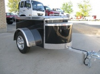 Enclosed Motorcycle Trailer Pull Behind Tote - CYCLE 39B
