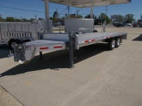 Bumper Pull Heavy Equipment Flatbed Trailers - BPF 44A