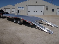 Bumper Pull Heavy Equipment Flatbed Trailers - BPF 45A