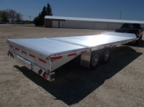 Bumper Pull Heavy Equipment Flatbed Trailers - BPF 45C