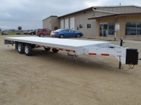 Bumper Pull Heavy Equipment Flatbed Trailers - BPF 46B