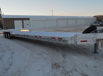 Bumper Pull Heavy Equipment Flatbed Trailers - BPF 47B