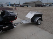 Enclosed Motorcycle Trailer Pull Behind Tote - CYCLE 48