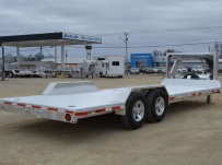 Gooseneck Low Profile Heavy Equipment Flatbed Trailers - GNLPF 45B