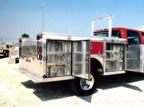 Open Middle Service Truck Bodies - SBO 25B