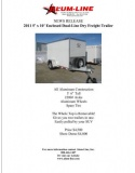Enclosed Dual-Line Dry Freight Trailer