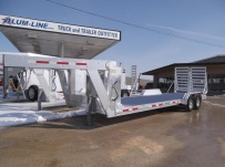 Gooseneck Low Profile Heavy Equipment Flatbed Trailers - GNLPF 40