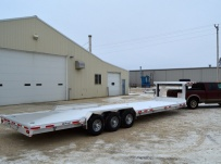 Gooseneck Low Profile Heavy Equipment Flatbed Trailers - GNLPF 41