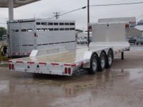 Gooseneck Low Profile Heavy Equipment Flatbed Trailers - GNLPF 34