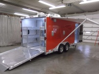 Bumper Pull Automotive All Aluminum Enclosed Trailers - BPA 41A