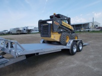Bumper Pull Heavy Equipment Skid Loader Trailer - SKL 33