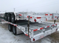 Bumper Pull Heavy Equipment Flatbed Trailers - BPF 36B