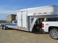Gooseneck Low Profile Heavy Equipment Flatbed Trailers - GNLPF 44A
