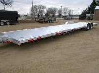 Bumper Pull Heavy Equipment Flatbed Trailers - BPF 40B