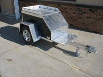 Enclosed Motorcycle Trailer Pull Behind Tote -  CYCLE 1A