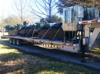Gooseneck Heavy Equipment Flatbed Trailers - GNF 108A
