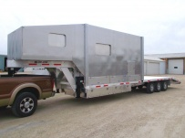 Gooseneck Heavy Equipment Flatbed Trailers - GNF 105D