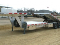 Gooseneck Heavy Equipment Flatbed Trailers - GNF 26B - 30'